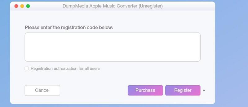 Activer le registre Apple Music Converter