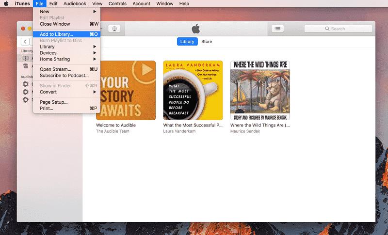 Lecteur AAX iTunes