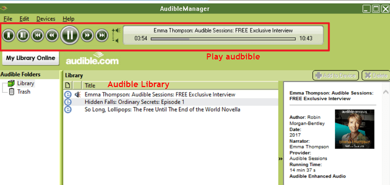 AAX Player Audible Manager