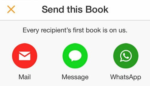 Choose as to How to Send the Book