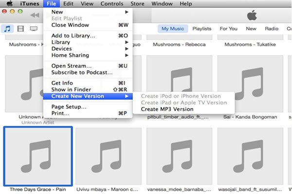 Créer une version MP3
