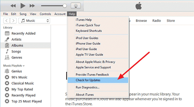 Updating the iTunes Application
