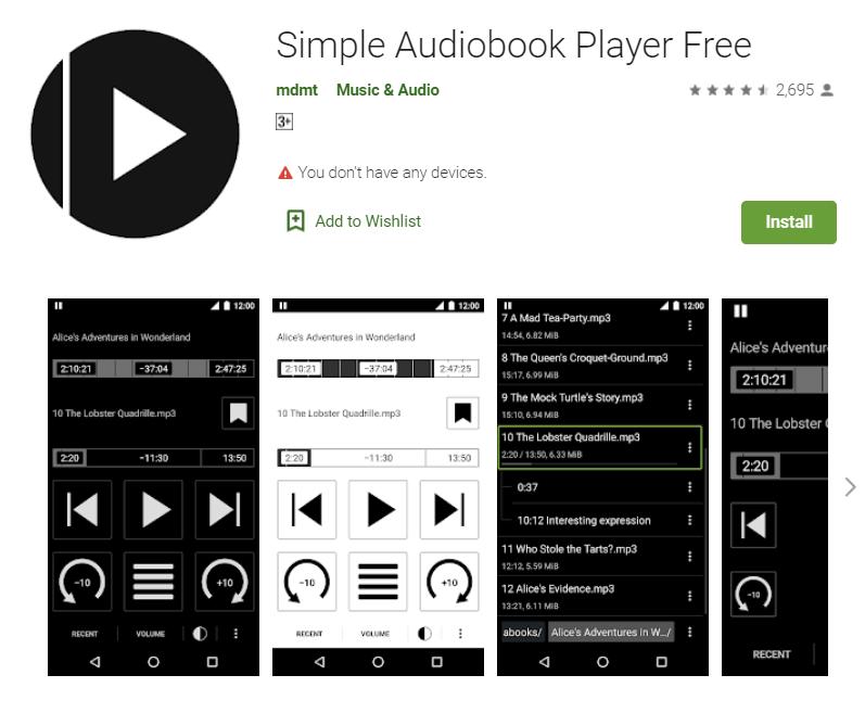 Play iTunes M4B Audiobooks Using Simple Audiobook Player