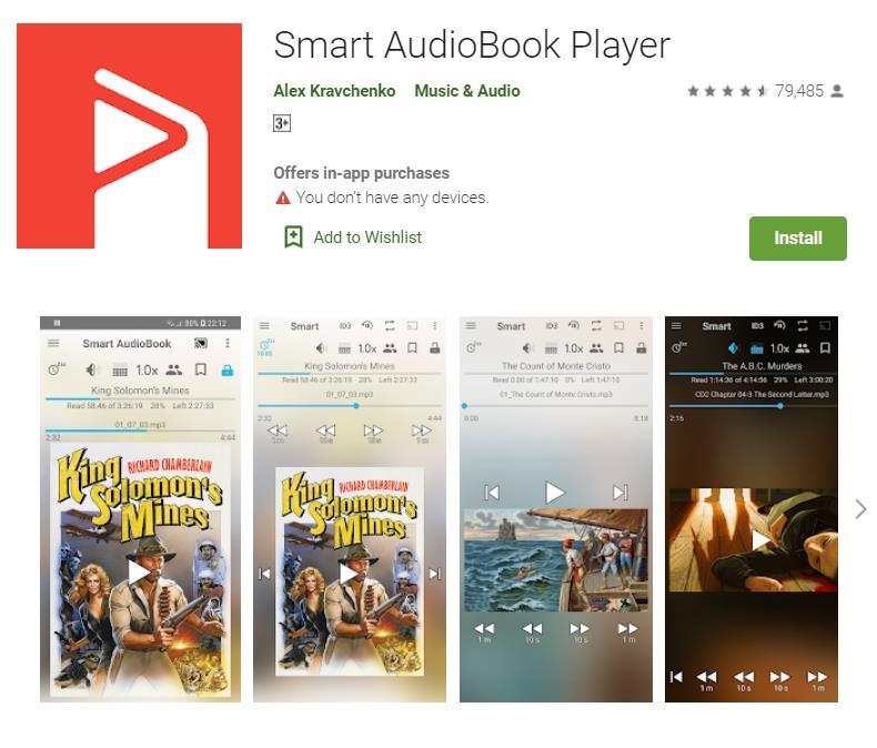 Play iTunes M4B Audiobooks Using Smart Audiobook Player