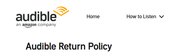 Audible Return Policy