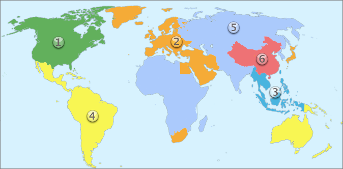 Dvd Region World Map