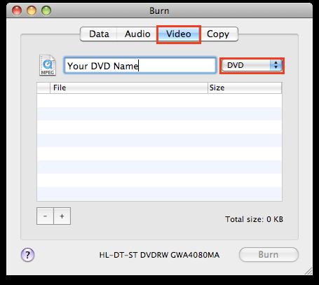 Burn For Mac
