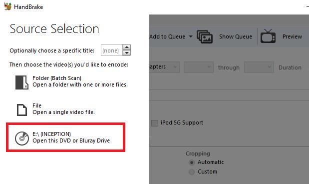 Scannen Sie Ihre DVD