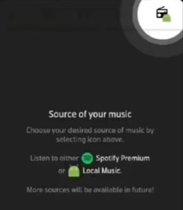 Choose the Source of Your Music