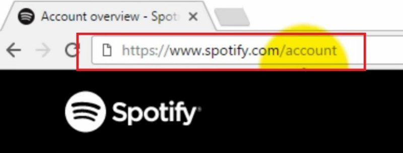Aller sur le site Web de Spotify