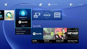Launch Spotify on PS4