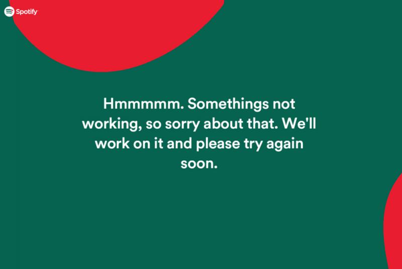 Spotify Wrapped werkt niet