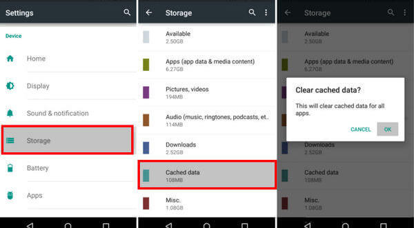 Vider le cache Spotify dans Android