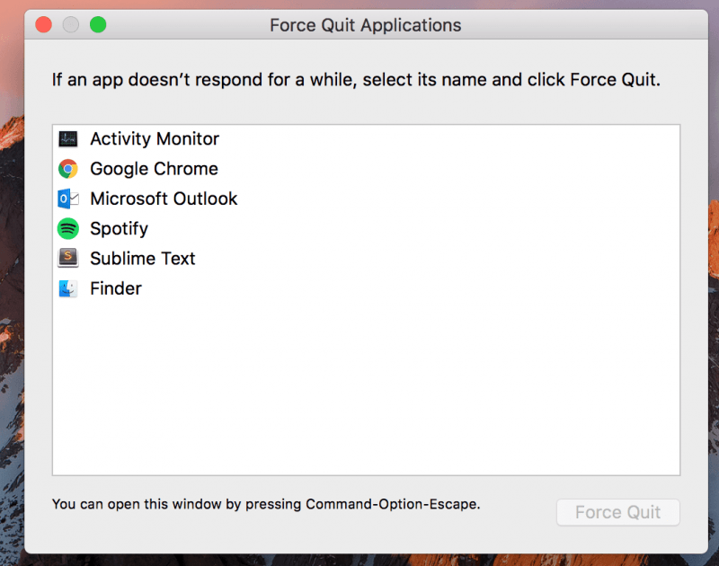 Force Quit the Spotify App