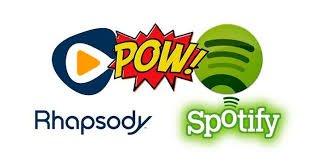 Rhapsody contre Spotify