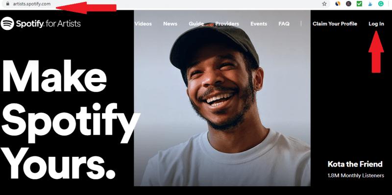 Ga naar Spotify for Artists Dashboard