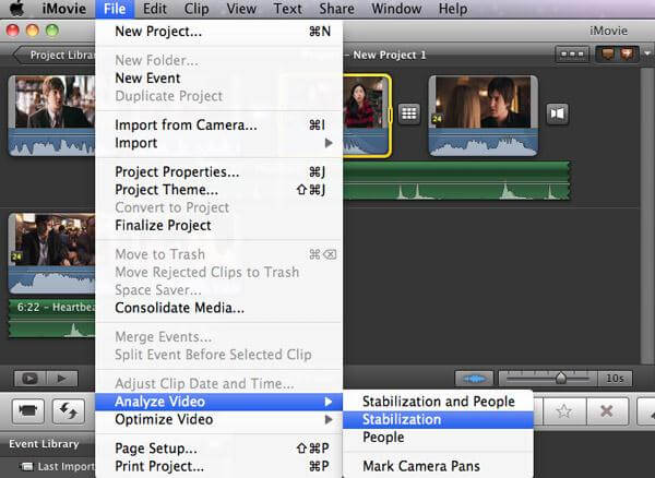 Stabilize Shaky Videos In iMovie