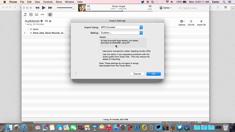 Convert M4B to MP3 By Using iTunes