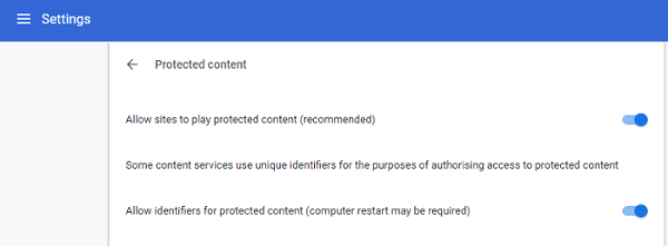 Enable Protected Content