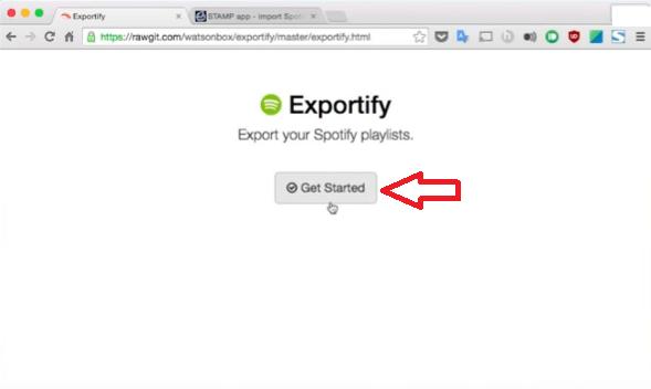 Ga naar de exporteer afspeellijst