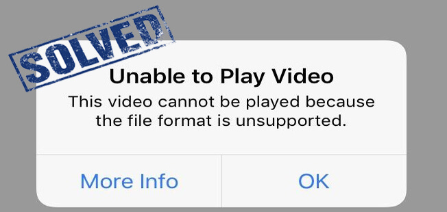 Unsupported Video Format iPhone