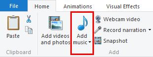 Add MP3 Files on Windows Movie Maker