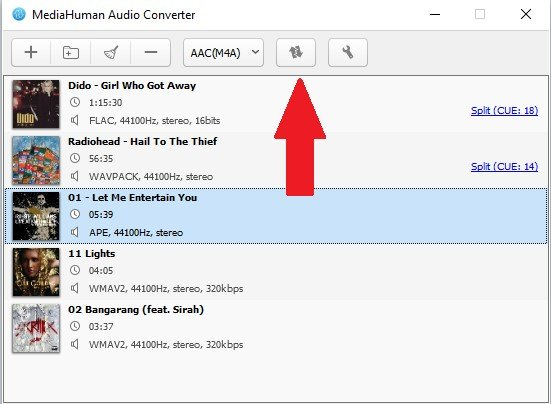Convert Audio File to M4A