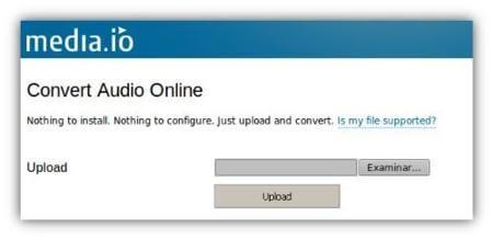 Convertir Wav en Flac via Media.io
