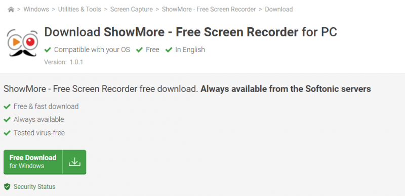 Download the Showmore Recorder