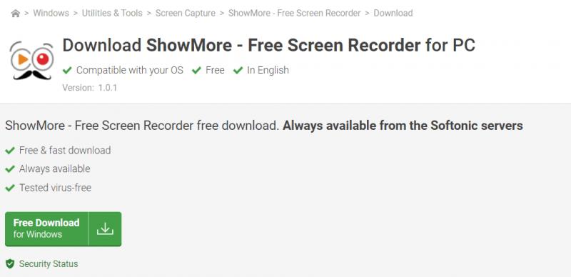 Descargue la grabadora Showmore